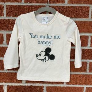 NWOT Uniqlo baby Mickey shirt